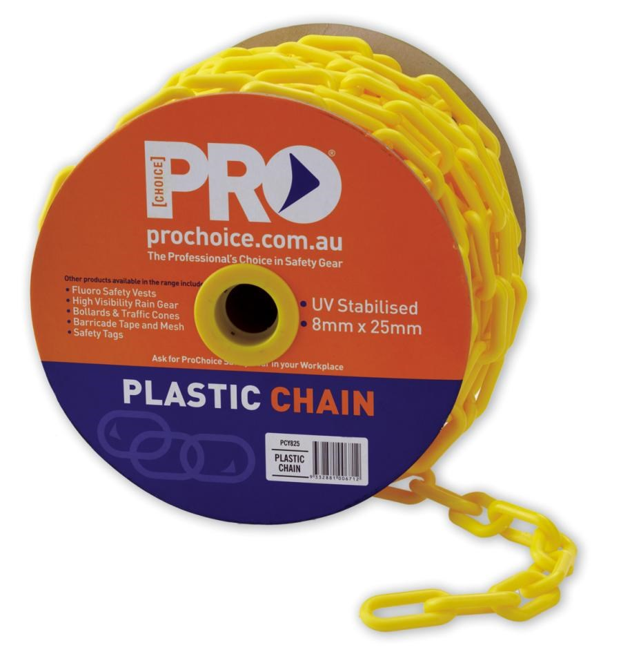 ProChoice 8mm plastic chain - Length 25 Metres per Roll