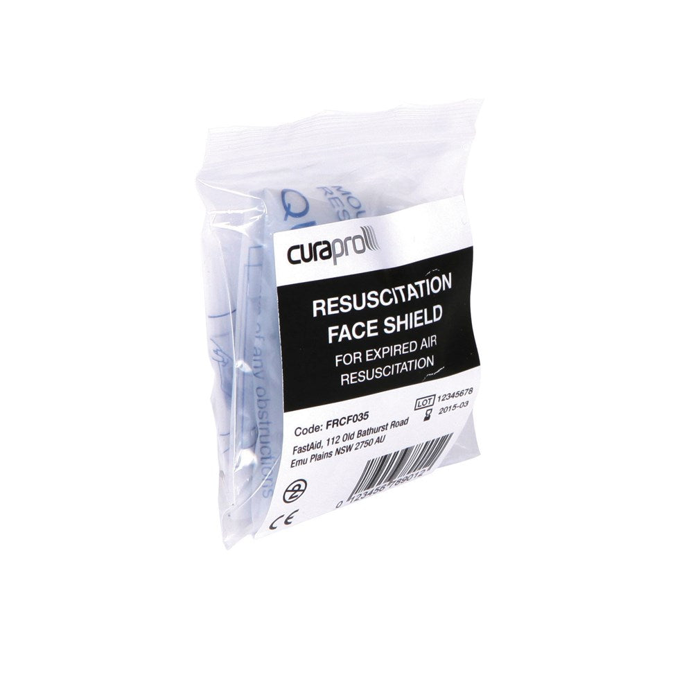 FastAid Disposable Resuscitation Face Shield with non-return valve