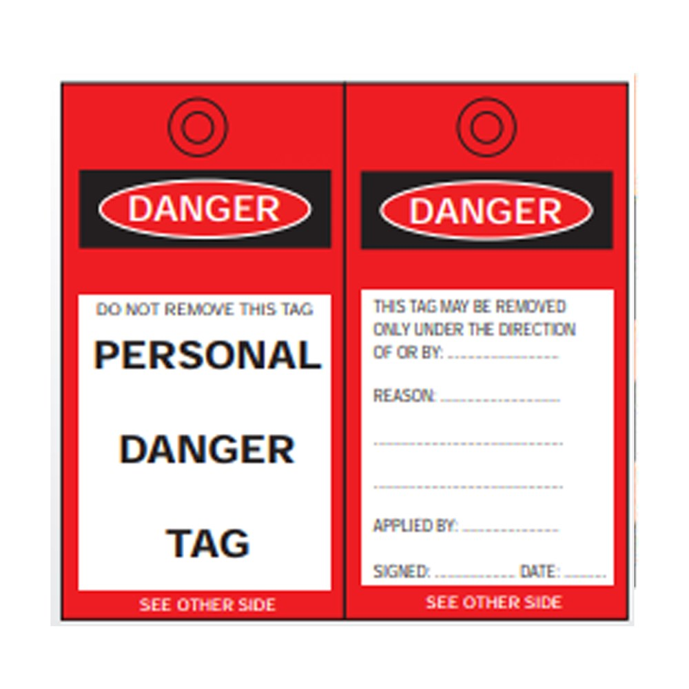 Cirlock Personal Danger Tag - Poly Material 140 x 75mm