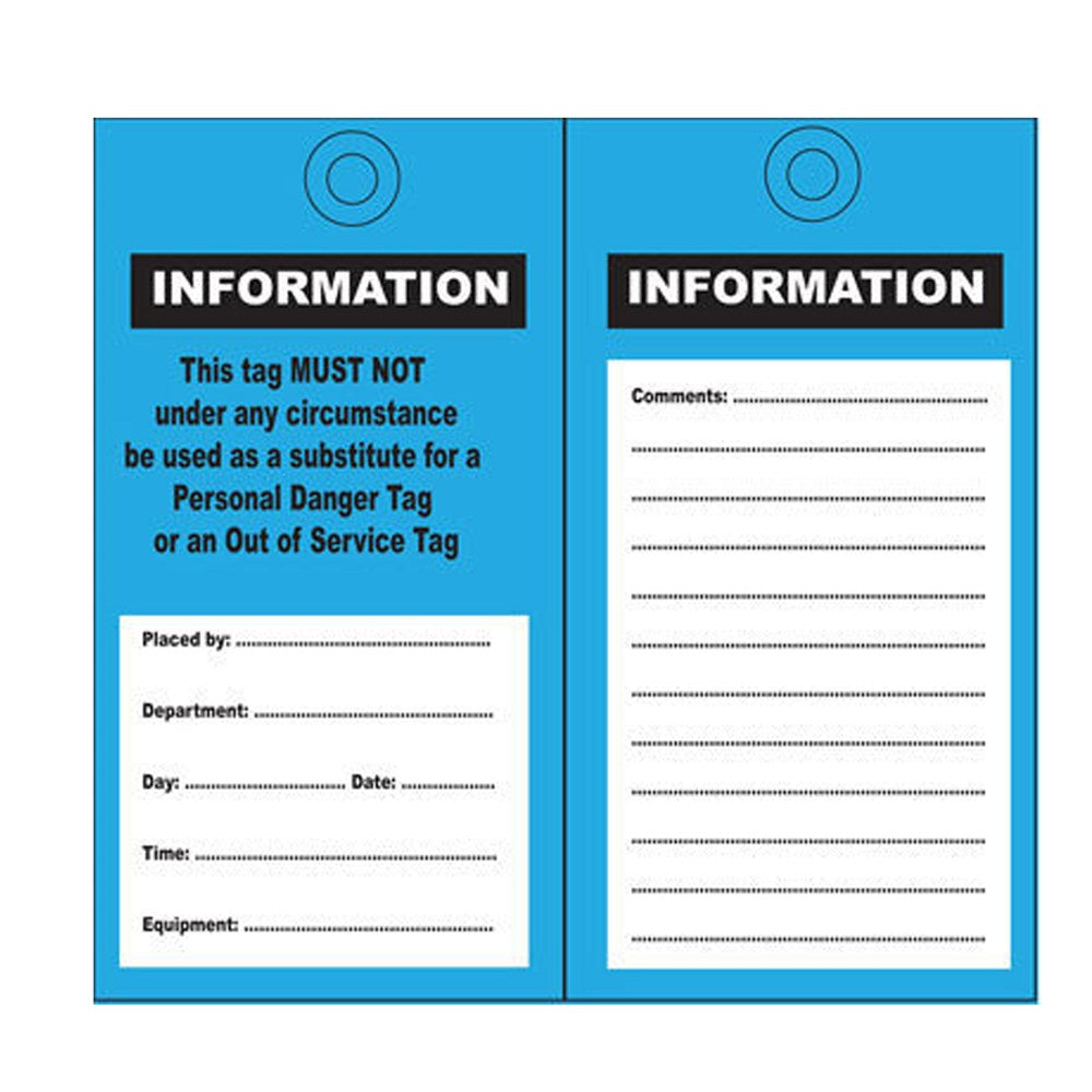 Cirlock Information Tags - Poly 140x75mm