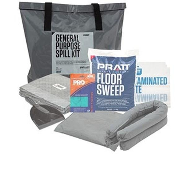 Pratt Grey General Purpose  Pvc Spill Kit Bag Only