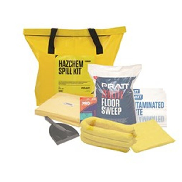 Pratt Yellow Hazchem  Pvc Spill Kit Bag Only