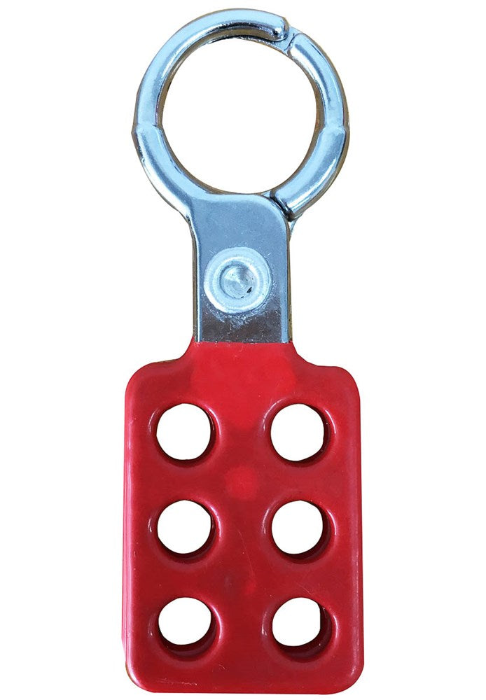 Cirlock Lockout Hasp Aluminium Spark Resistant with 25mm Jaws - RED Coating