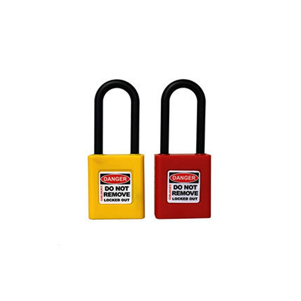 Cirlock 750 Series Safety Lockout Padlock - Thick Shackle - Non Conductive 6.35mm x 50mm - RED