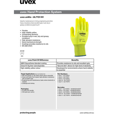 uvex unilite HV precision work gloves