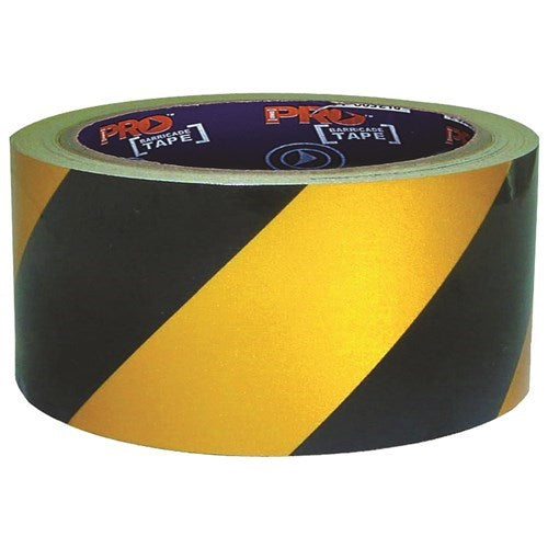 Hazard Tape Black & Yellow Self Adhesive