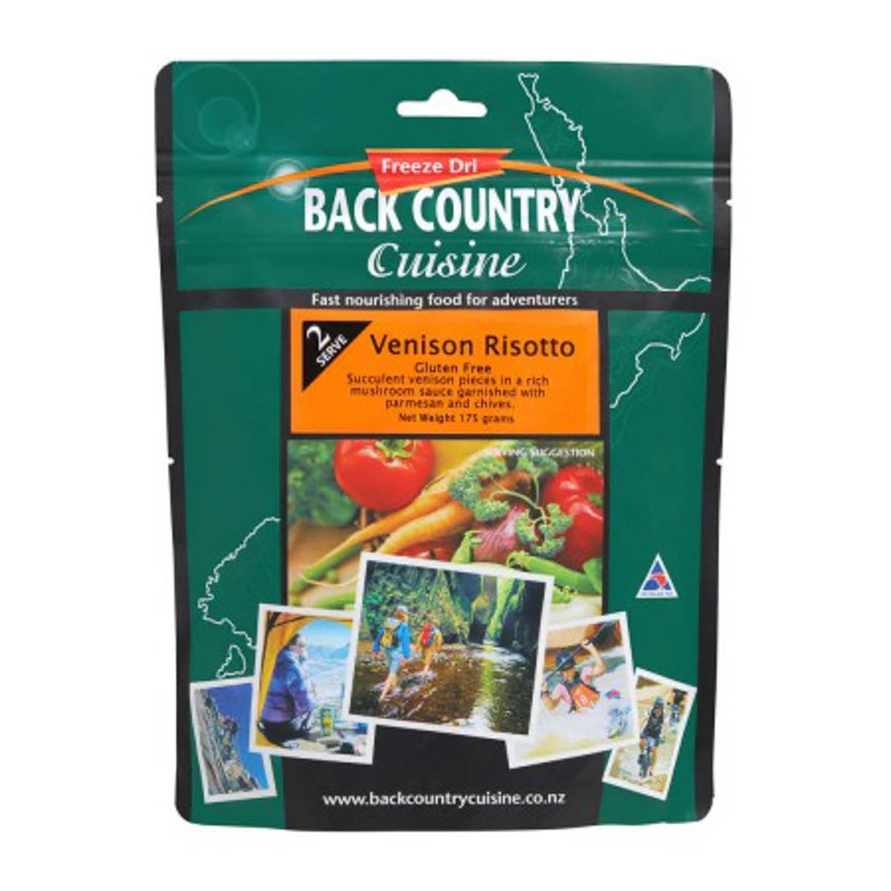 Back Country food packs - Venison Risotto