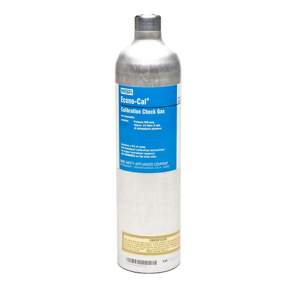 MSA Calibration Gas - Ammonia 25ppm NH3 in air - 34L
