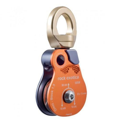 "(EOL) Rock Exotica 1.5"" Omni-Block Shackle Top Pulley 
