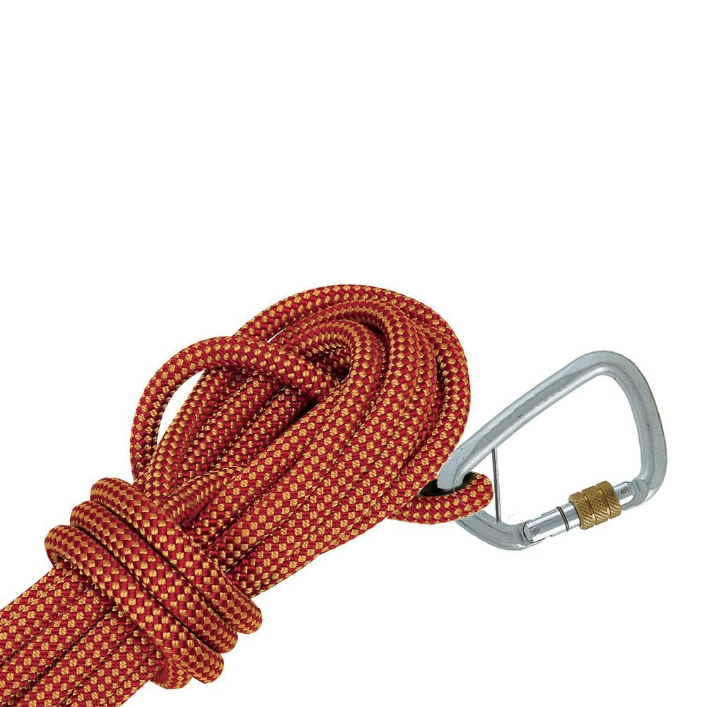 Ferno Hi-safe Kernmantle Rope Static Line with Screw Gate Karabiner