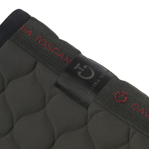 Cavalleria Toscana Circular Quilted Jump Saddle Pad Olive/Navy 5A79
