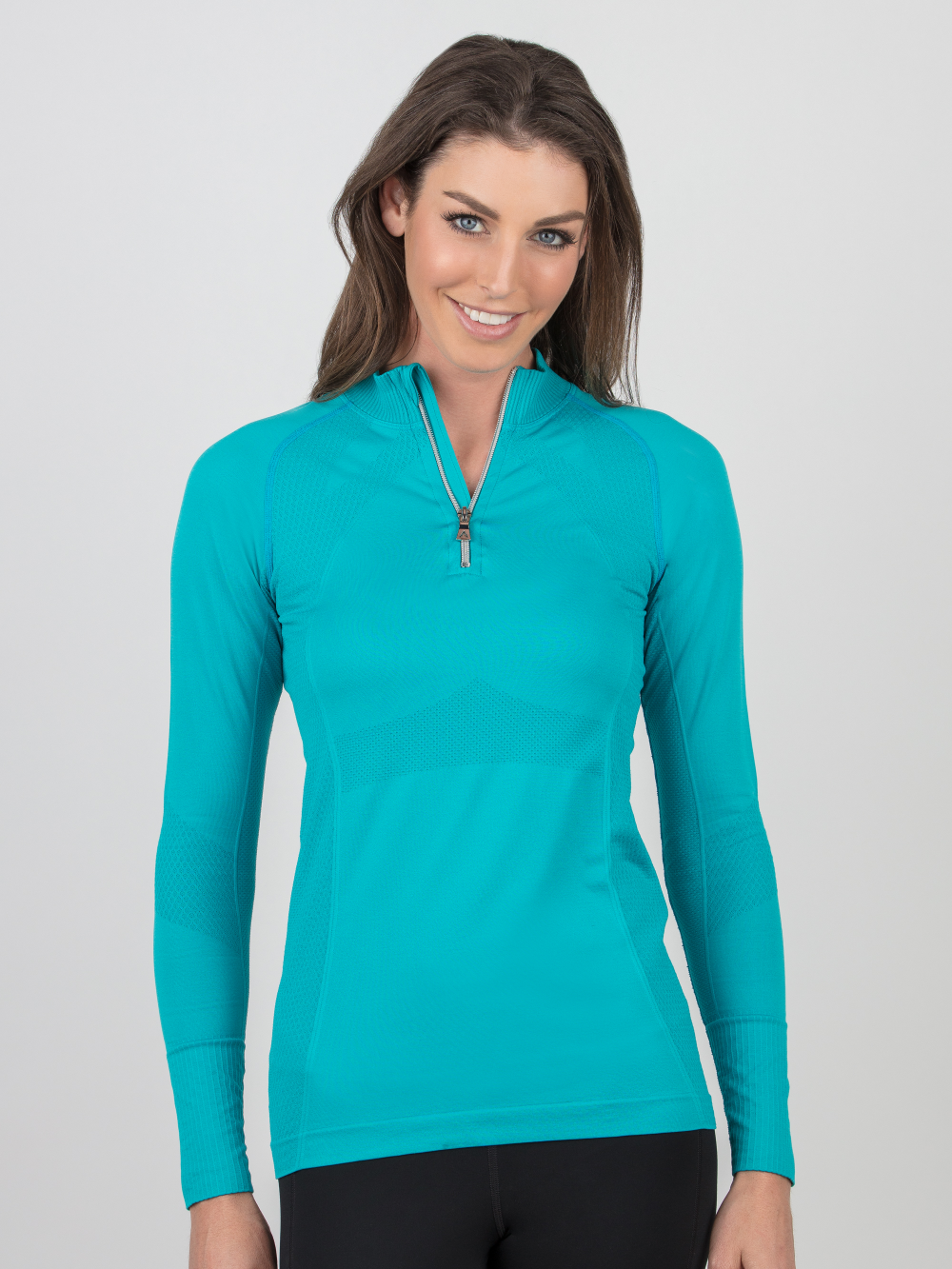 Anique Seamless Zip Cooling Long Sleeve Shirt - Luxe EQ