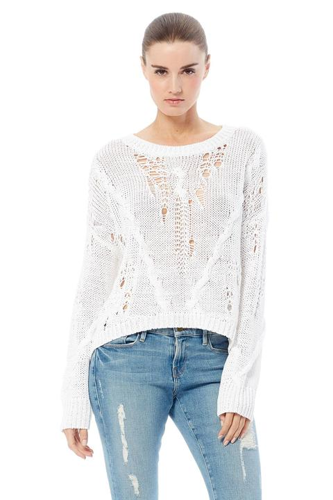 360 Cashmere Ethel Open Knit Sweater - Luxe EQ