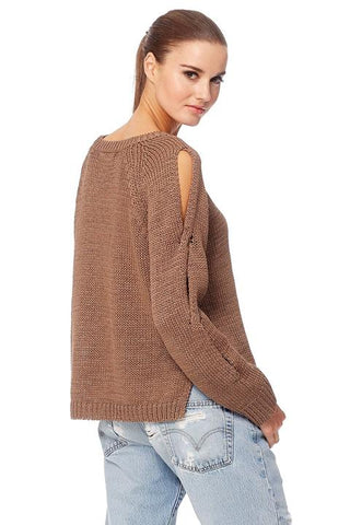 360 Cashmere Lillian Hoodie Button Neck Sweater