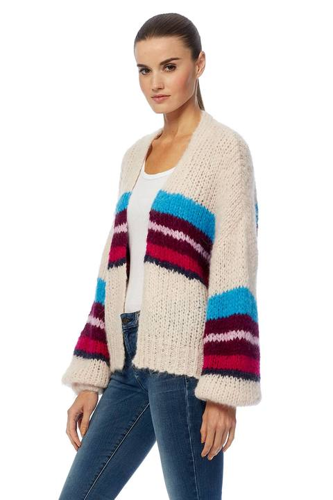 360 Cashmere Izabel Striped Cardigan - Luxe EQ