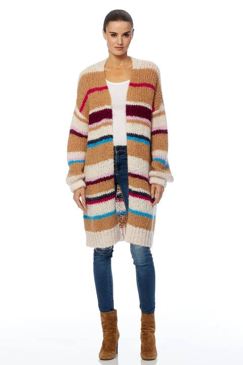 360 Cashmere Joanne Striped Cardigan - Luxe EQ