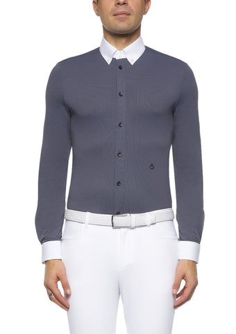 Cavalleria Toscana Perforated Collar Shirt