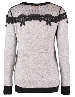 Esqualo Lace Topped Sweater - Luxe EQ