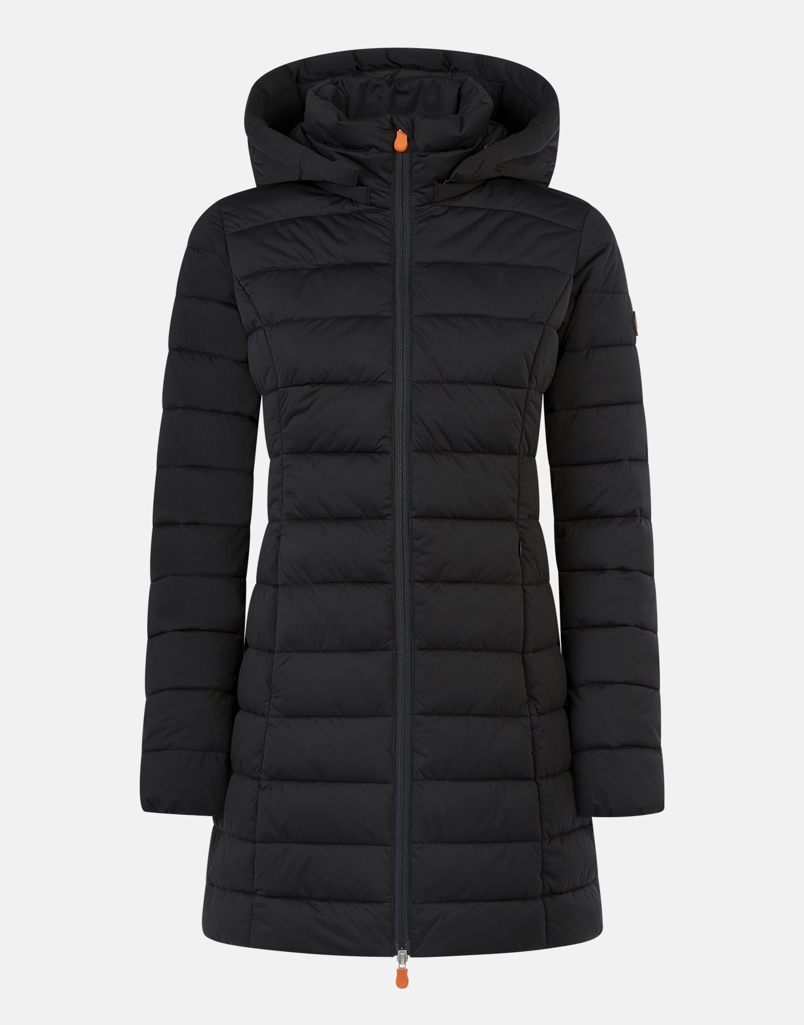 SAVE THE DUCK WOMEN'S SOLD STRETCH COAT WITH DETACHABLE HOOD - Luxe EQ