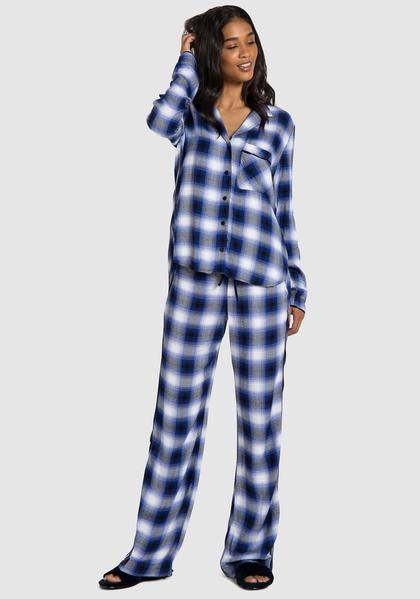 7035ee543922a Bella Dahl Lounge Sleep Shirt and Wide Leg Pant - Luxe EQ ...