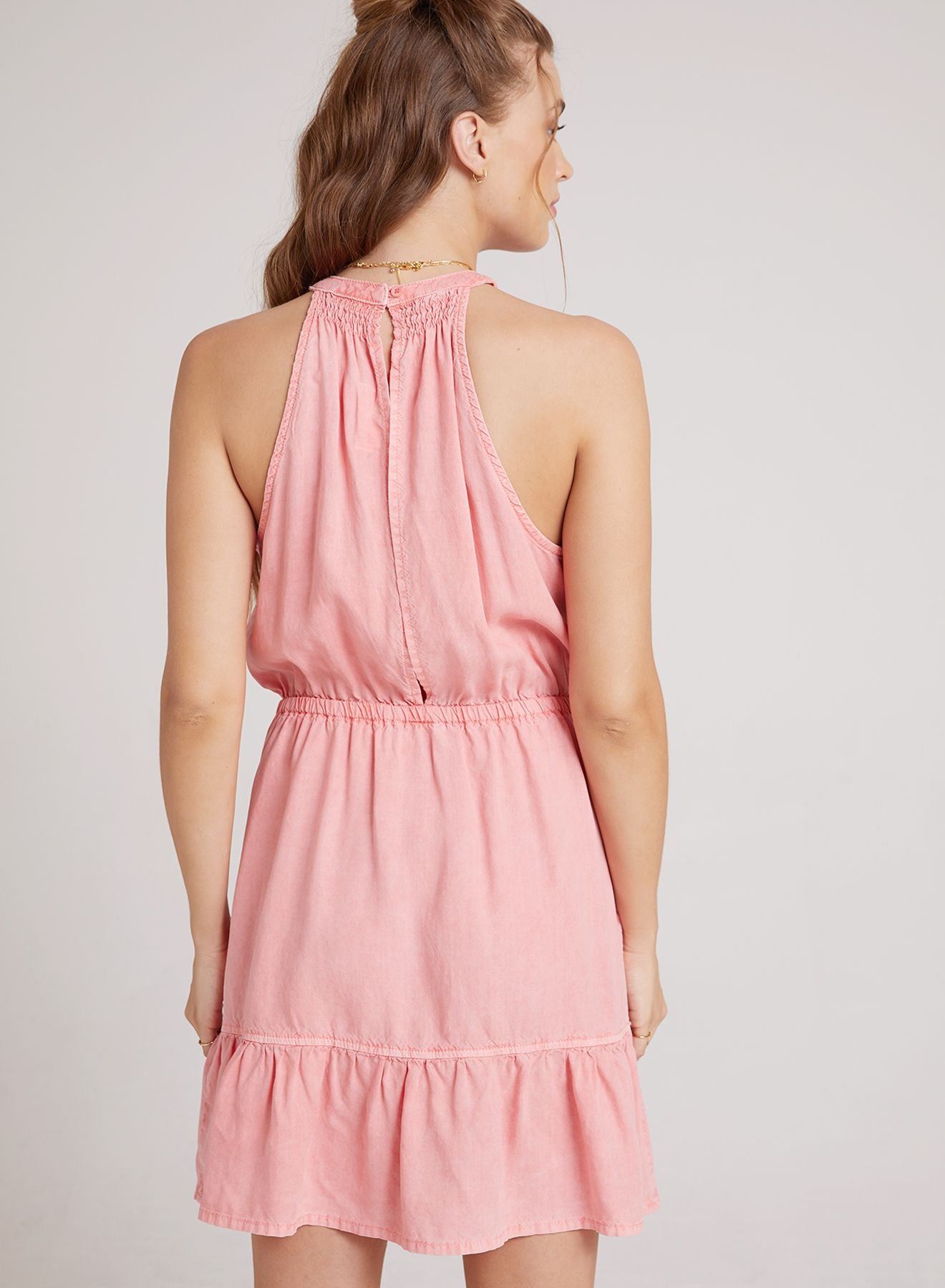 Bella Dahl Shirred Halter Dress - Luxe EQ