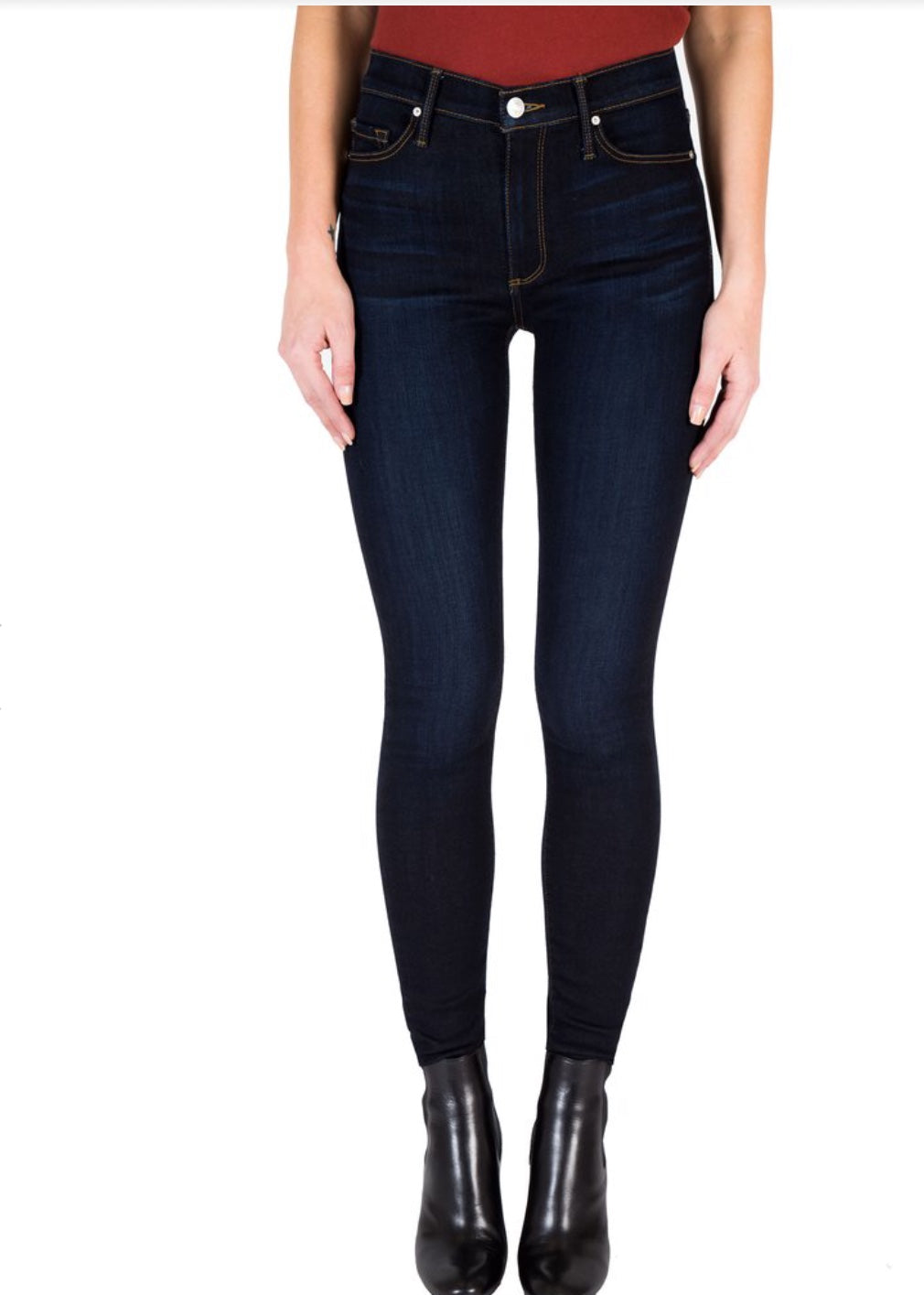 Black Orchid Denim Jude Mid Rise Skinny Basically Wash - Luxe EQ