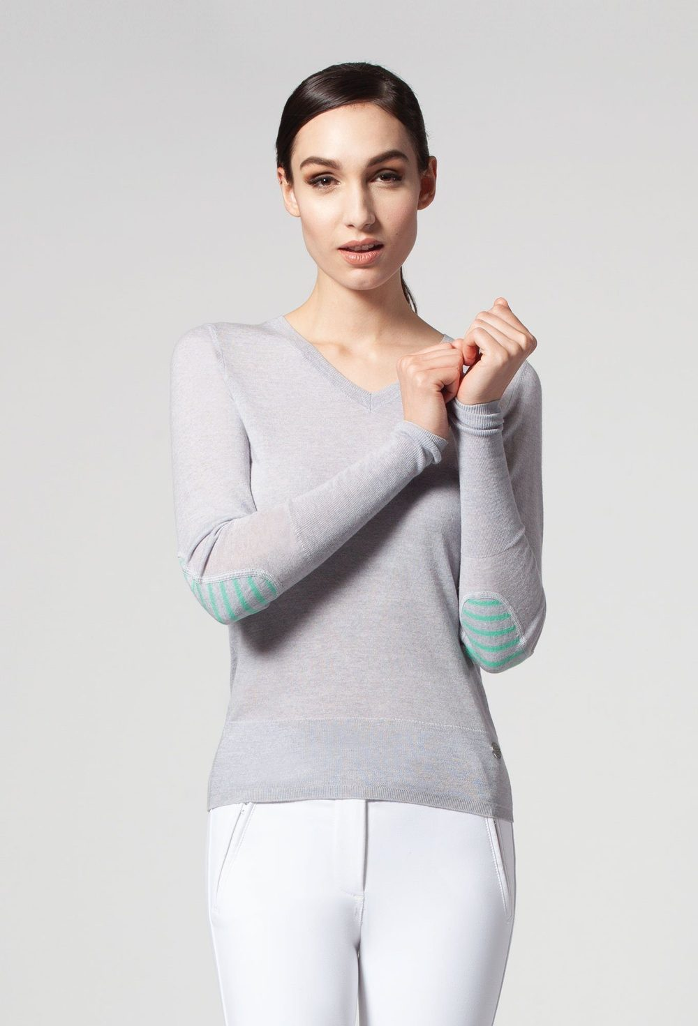 Asmar Equestrian Rey V Neck Light Sweater - Luxe EQ
