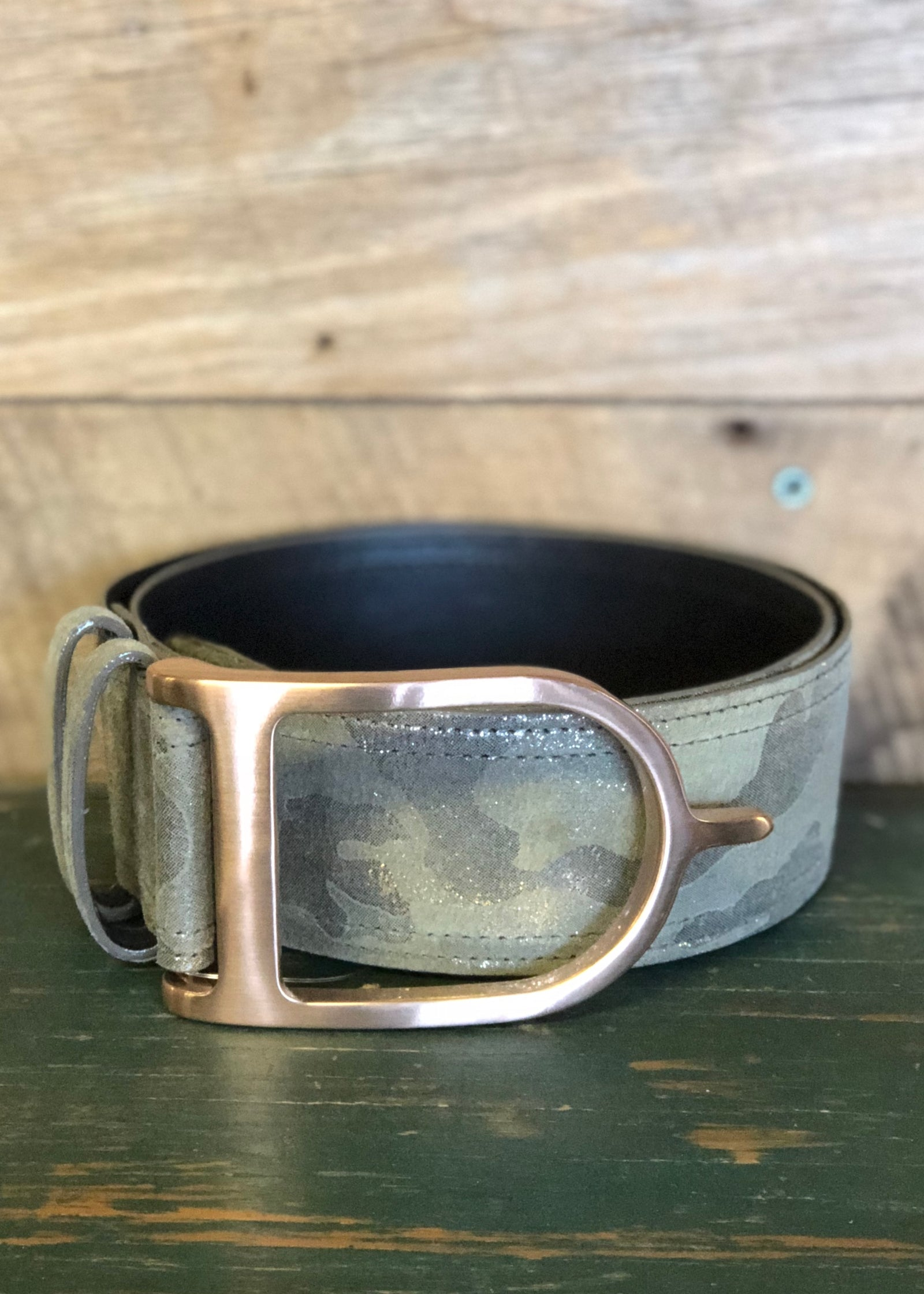 Duftler Spur Belt Camo Rose Gold