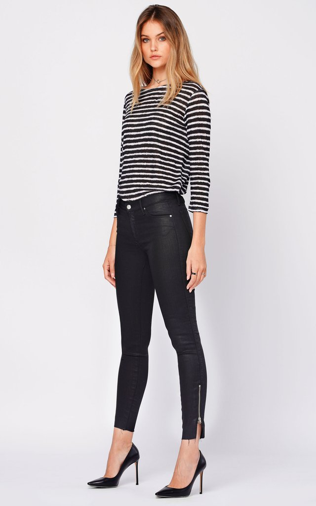 Black Orchid Denim Kaia Split Zip Jean - Luxe EQ