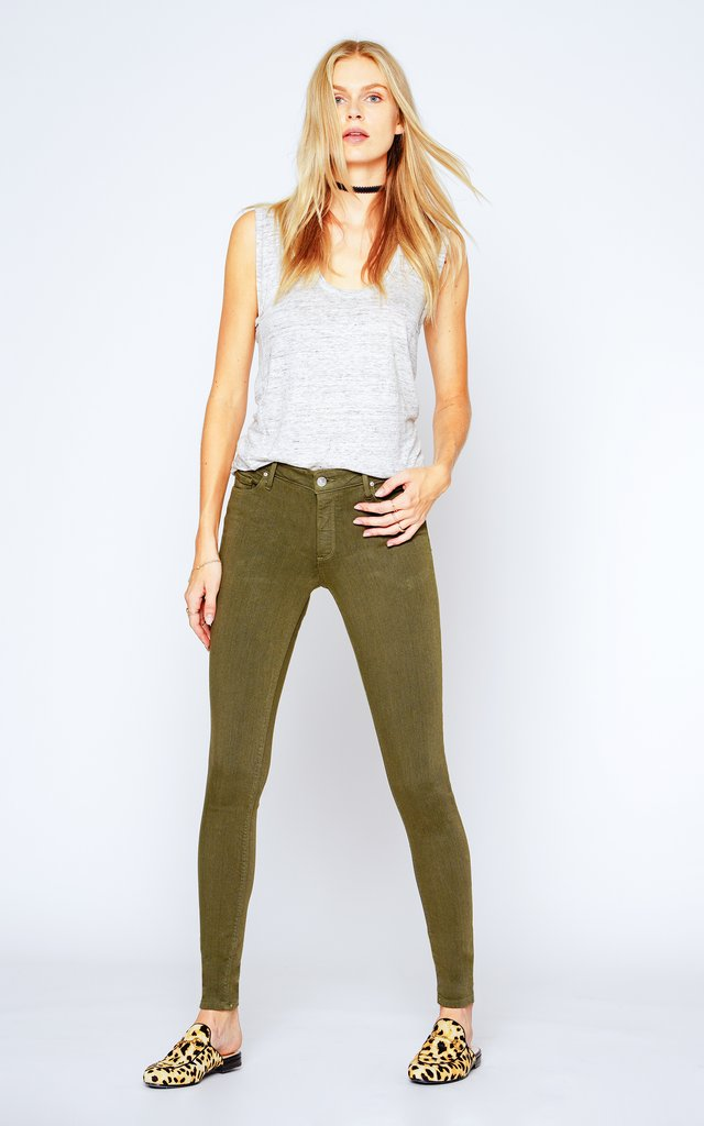 Black Orchid Denim Jude Skinny Army Green - Luxe EQ