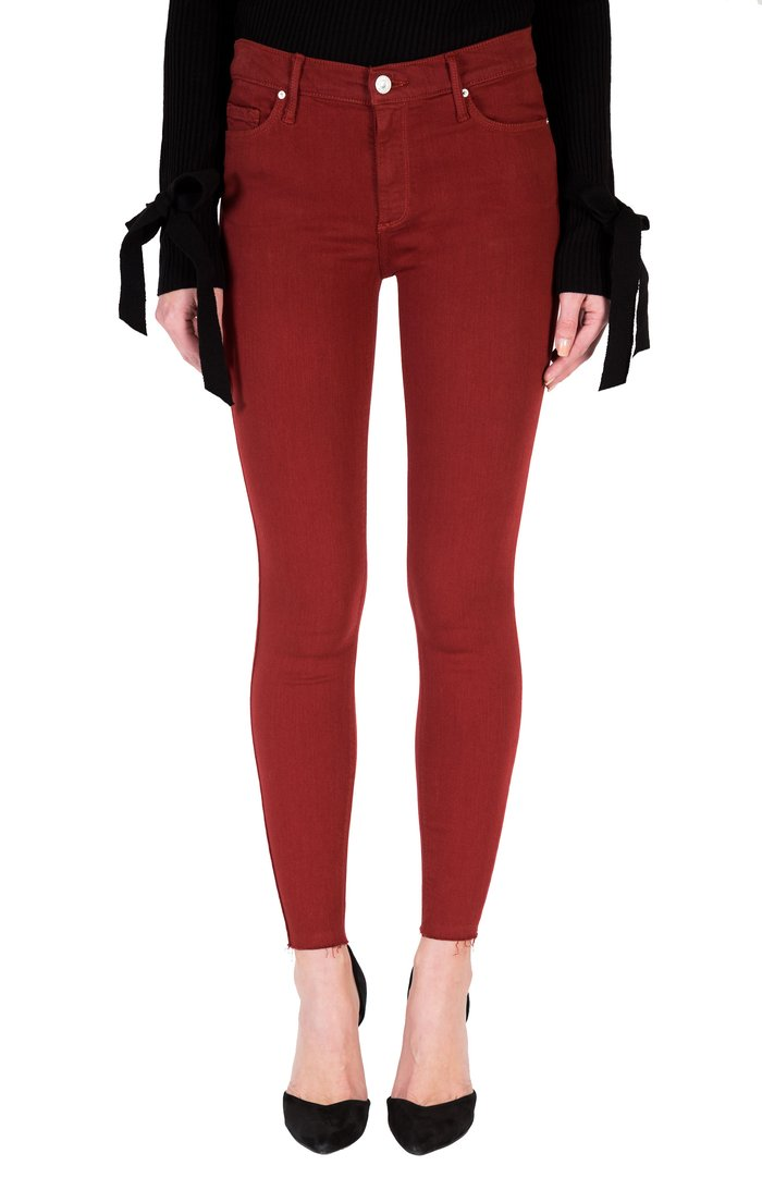 Black Orchid Denim June Skinny Jean Samba Red - Luxe EQ