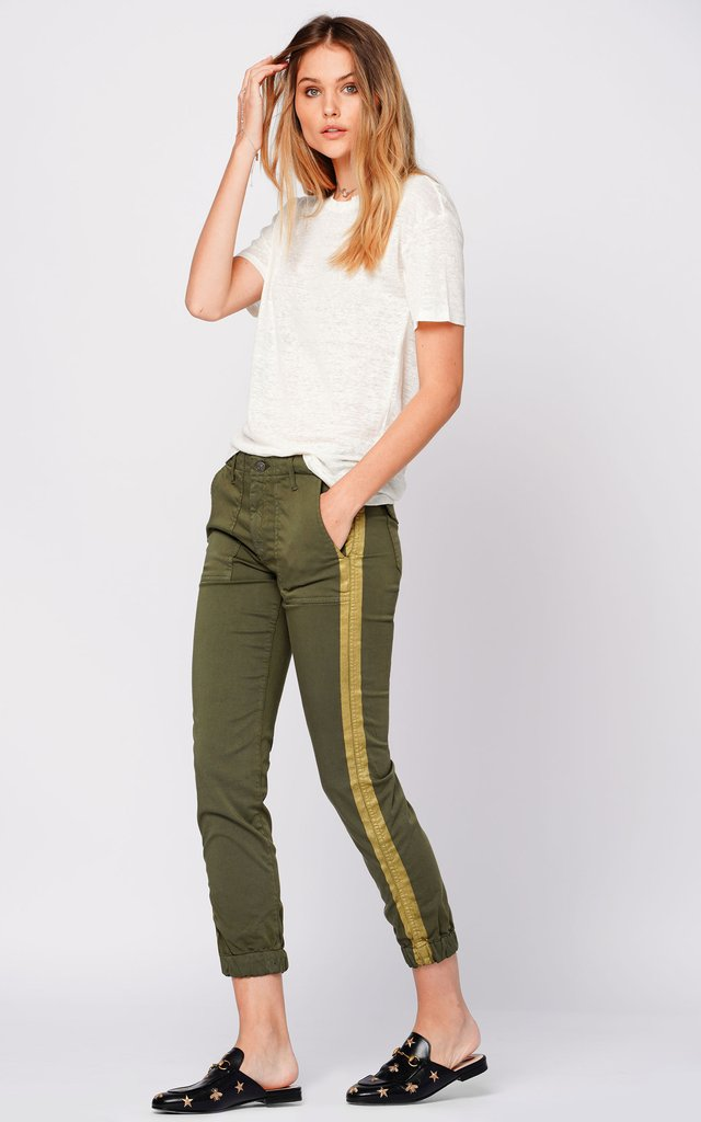 Black Orchid Denim Noel Military Jogger Army Green - Luxe EQ
