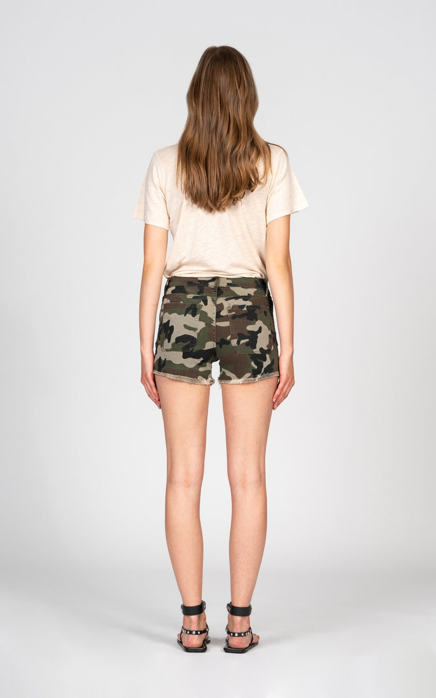 Black Orchid Denim Liv Patch Pocket Short - Camo - Luxe EQ