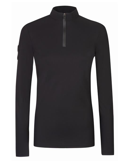 Cavalleria Toscana Polo L/S with Knit Jaquard Back