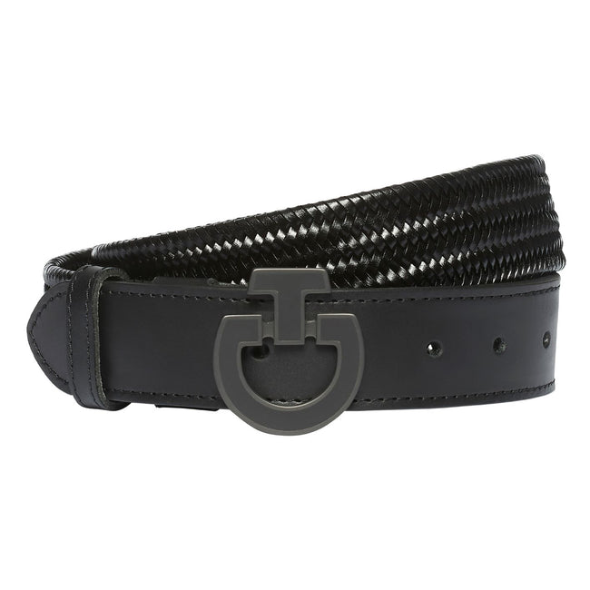 Cavalleria Toscana Woven Leather CT Buckle Belt Womens