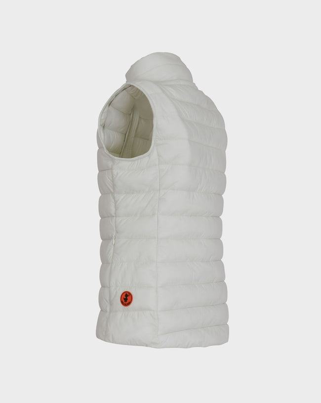 Save The Duck Womens Giga vest in off white - Luxe EQ