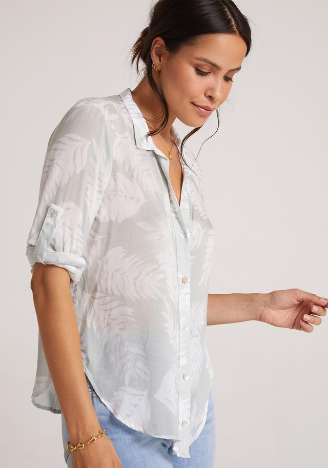 Bella Dahl Palm Print Capri Button Down - Luxe EQ