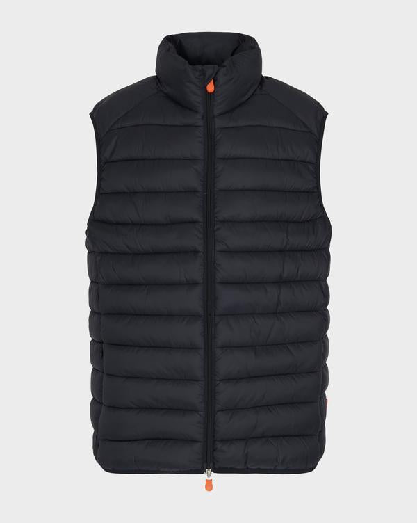 Save The Duck Men's Giga Vest in Black - Luxe EQ