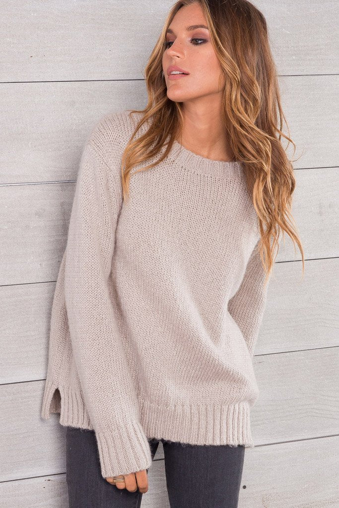 Wooden Ships Cameron Solid Crewneck Sweater - Luxe EQ
