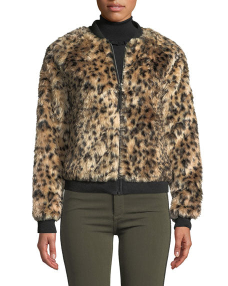 Black Orchid Faux Fur Bomber - Luxe EQ