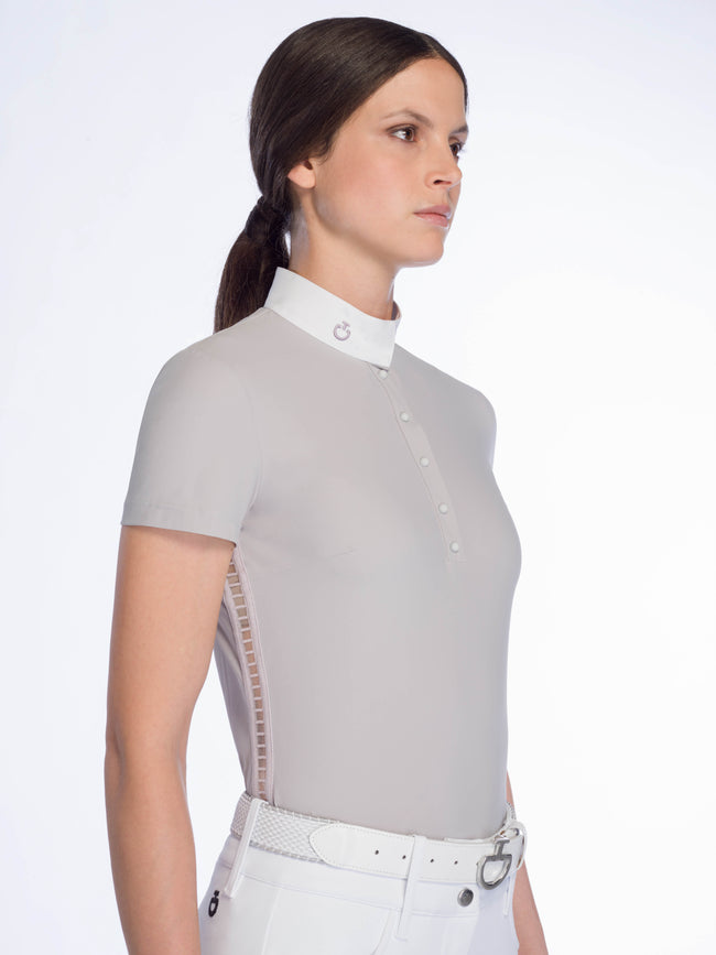 Cavalleria Toscana Sheer Rib Knit S/S Polo - Luxe EQ