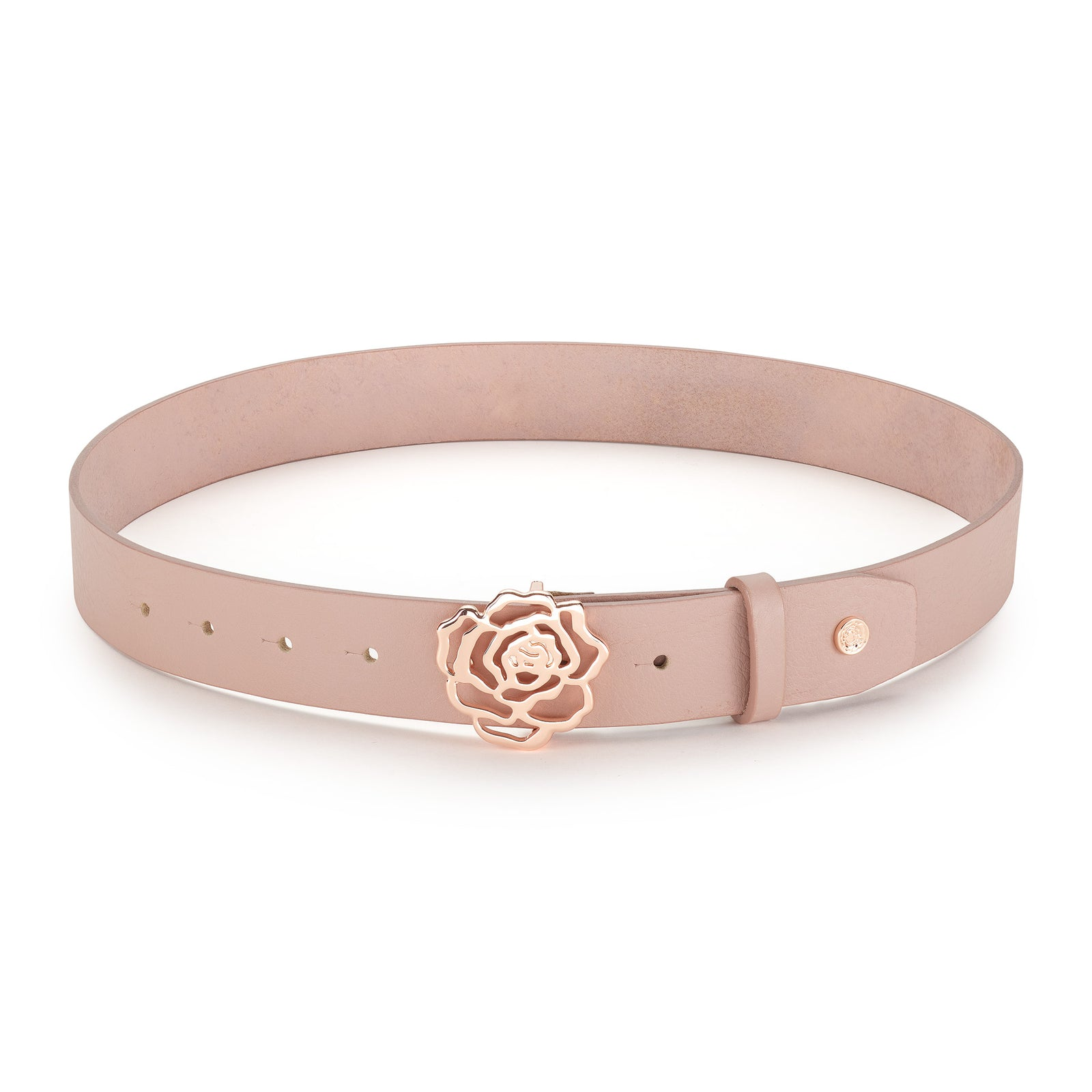 Hannah Childs Rose Buckle Belt  Dusted Rose - Luxe EQ