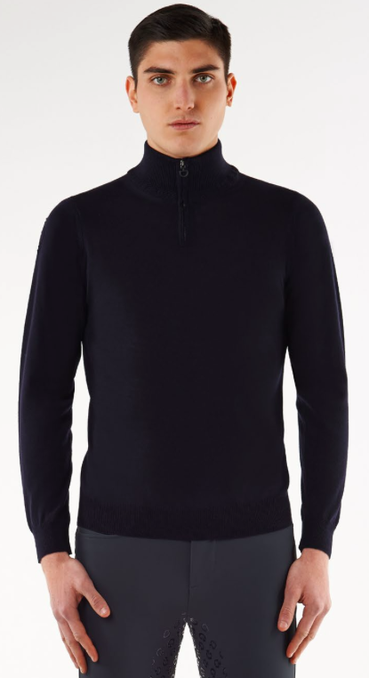 Cavalleria Toscana Uomo / Men's Tech Wool Zip Turtleneck - Luxe EQ