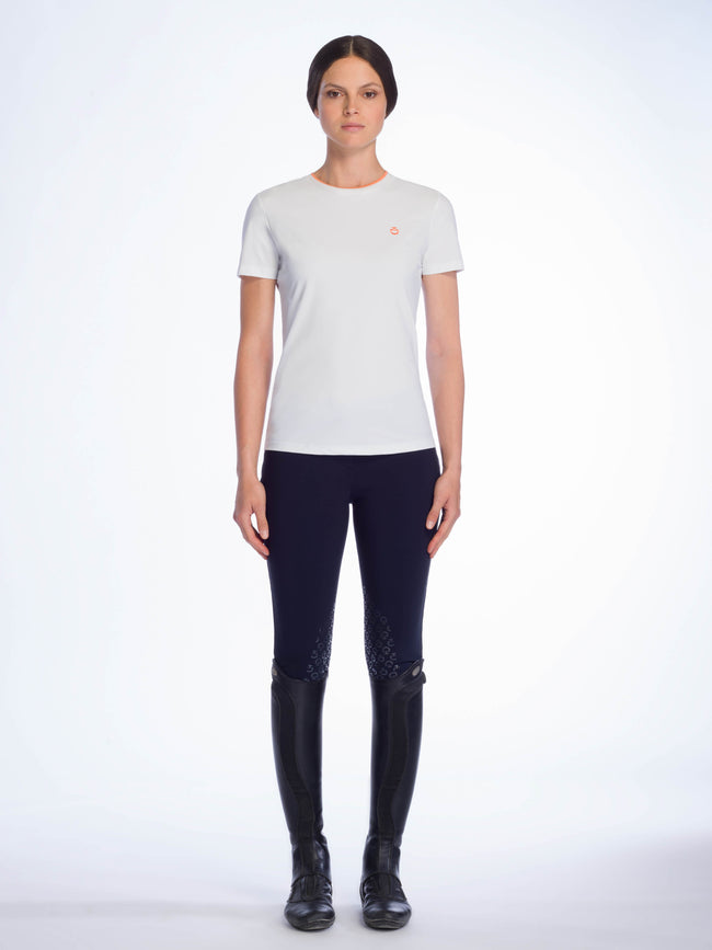 Cavalleria Toscana Rib Knit Banded T shirt - Luxe EQ