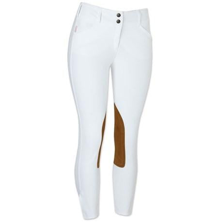 Tailored Sportsman Breech Girl's 3960 White Front zip  Low rise - Luxe EQ