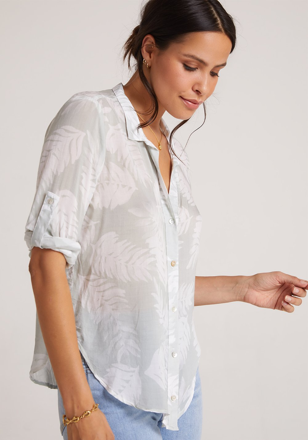 Bella Dahl Capri Button Down Leaves - Luxe EQ