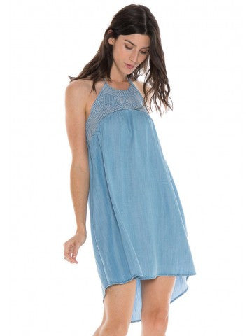 Bella Dahl Ebroidered Hi Low Dress Mojave Wash - Luxe EQ