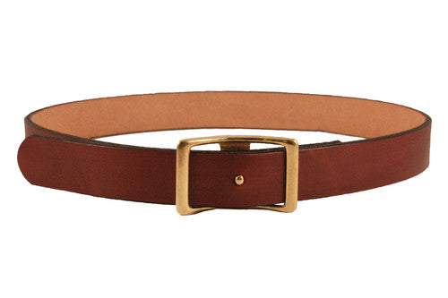 C.S. Simko Belt with Solid Brass Buckle - Luxe EQ