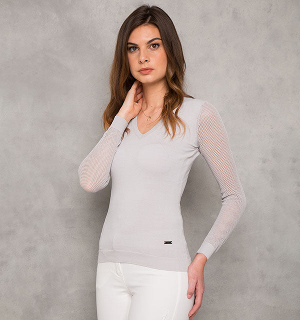 AA Platinum Horseware Sweater with Perforated Sleeves - Luxe EQ
