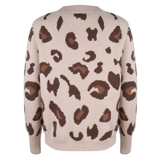 Esqualo Sweater Leopard Print - Luxe EQ